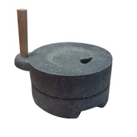 [천연 자연석] 전통 2단 맷돌(크기 선택)  멧돌/콩국수
