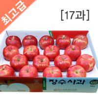 장수사과 부사 5kg(17과)  사과 5kg/사과 10kg/과일선물/햇사과/선물용사과/과수농가직판